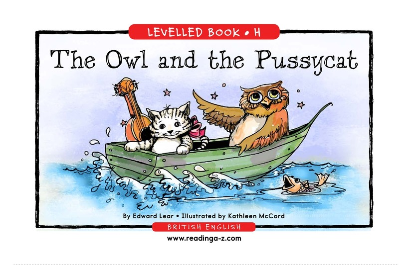 Book Preview For The Owl and the Pussycat Page 1