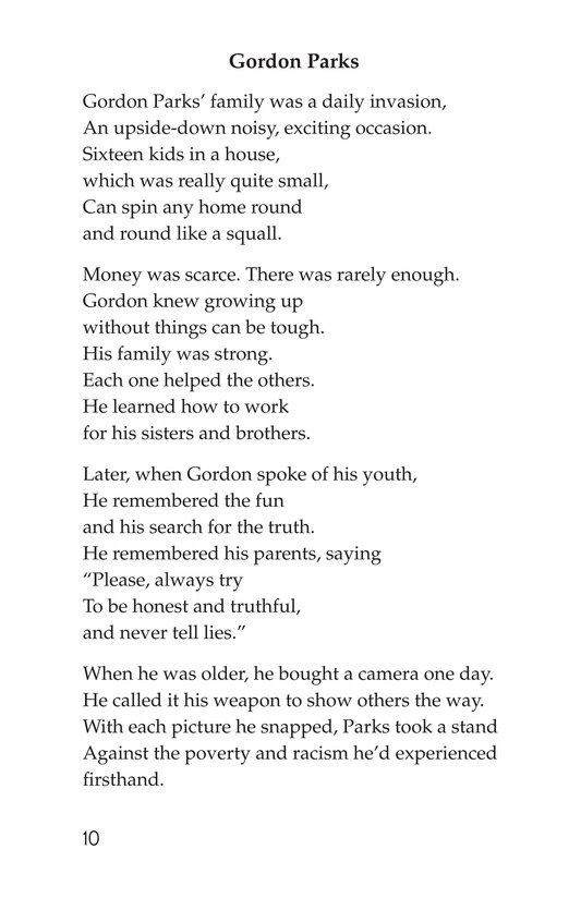 Book Preview For Making Changes: Poems About Great African Americans Page 10