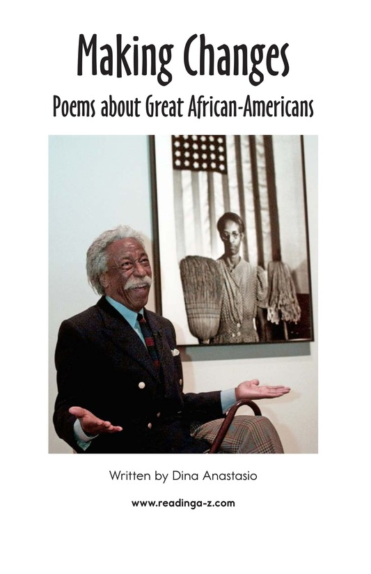 Book Preview For Making Changes: Poems About Great African Americans Page 2