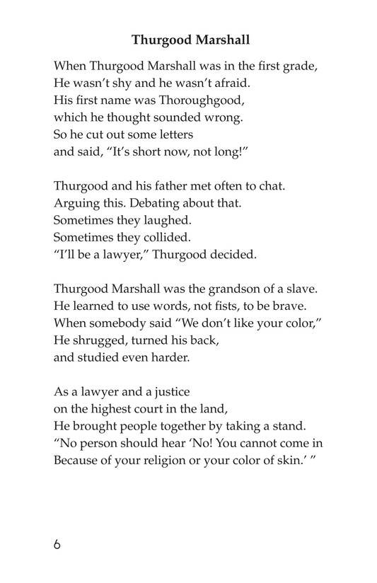 Book Preview For Making Changes: Poems About Great African Americans Page 6