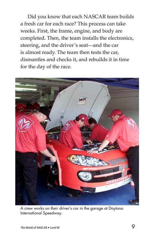 Book Preview For The World of NASCAR Page 9