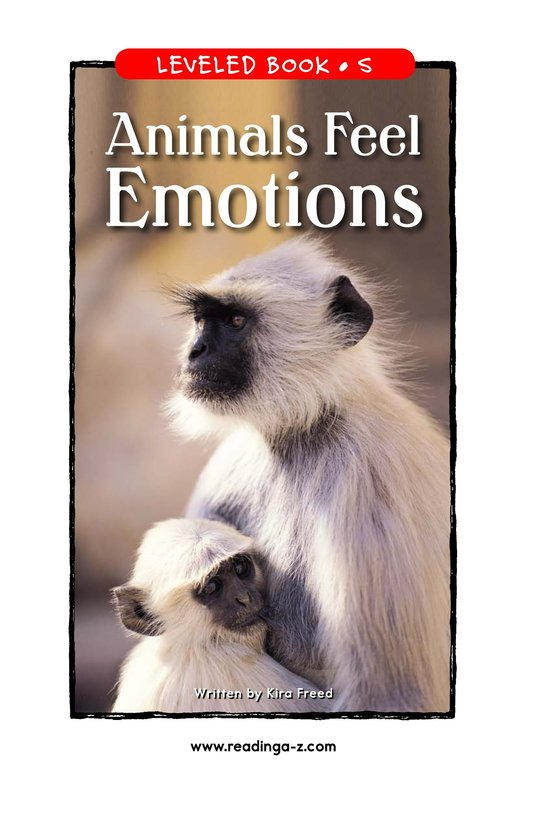Book Preview For Animals Feel Emotions Page 1