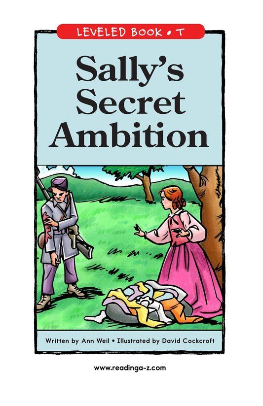 Book Preview For Sally's Secret Ambition Page 1