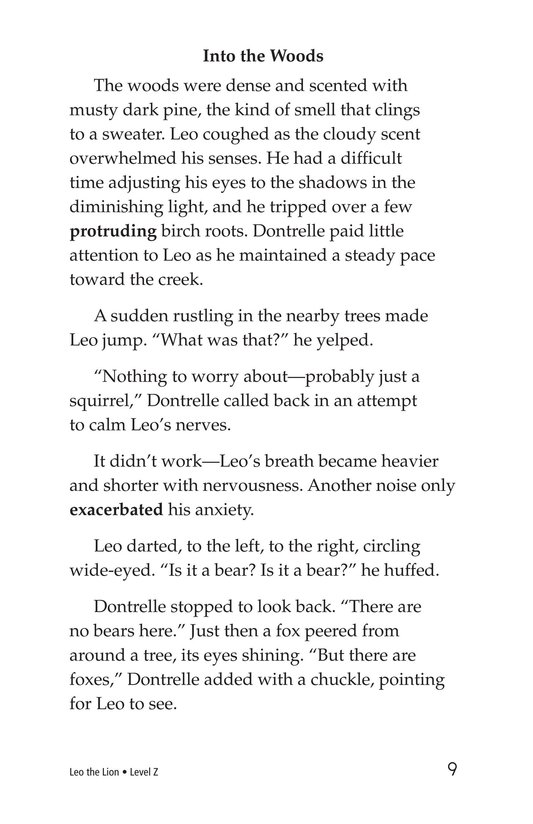 Book Preview For Leo the Lion Page 9