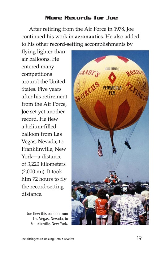 Book Preview For Joe Kittinger: An Unsung Hero Page 19