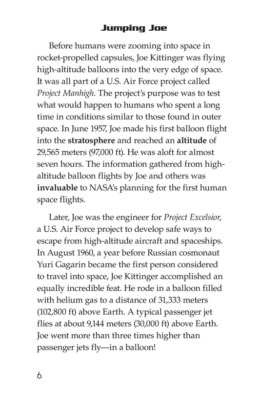 Book Preview For Joe Kittinger: An Unsung Hero Page 6