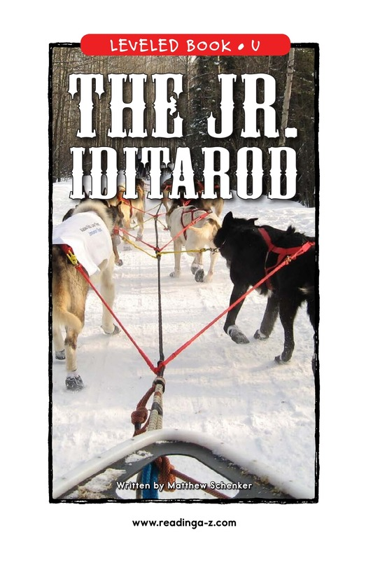 Book Preview For The Jr. Iditarod Page 1