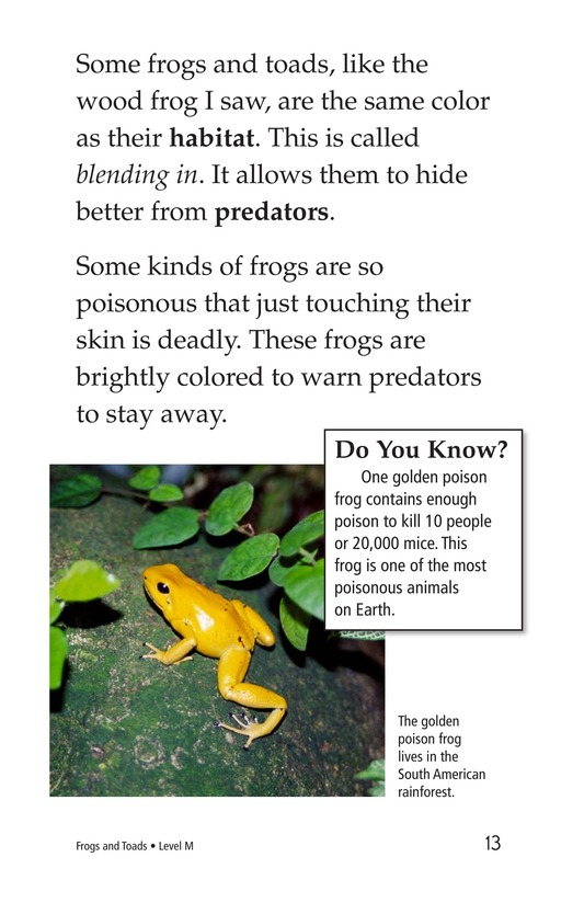 Book Preview For Frogs and Toads Page 13