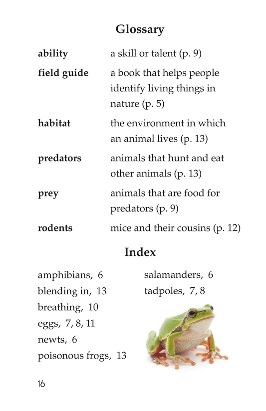 Book Preview For Frogs and Toads Page 16