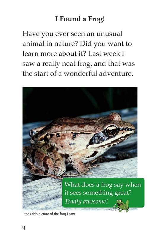 Book Preview For Frogs and Toads Page 4