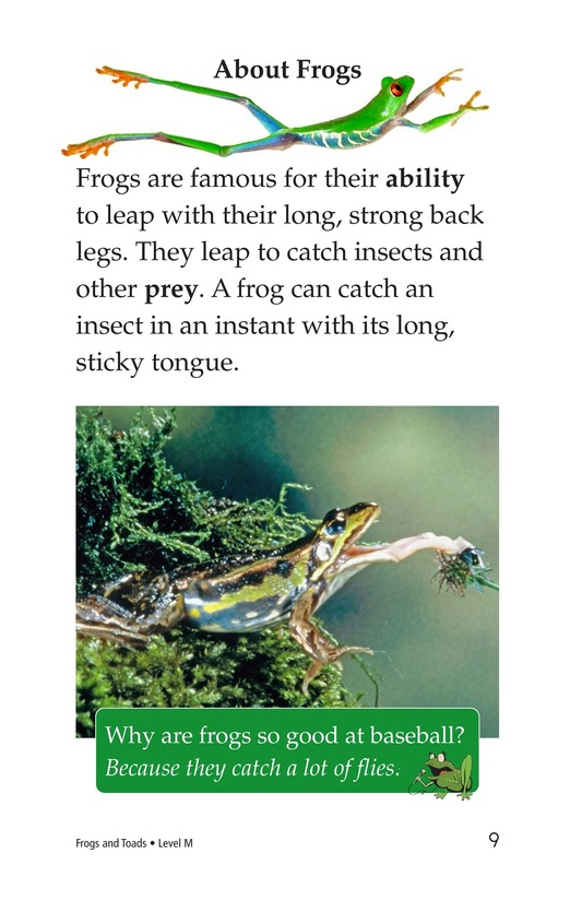 Book Preview For Frogs and Toads Page 9