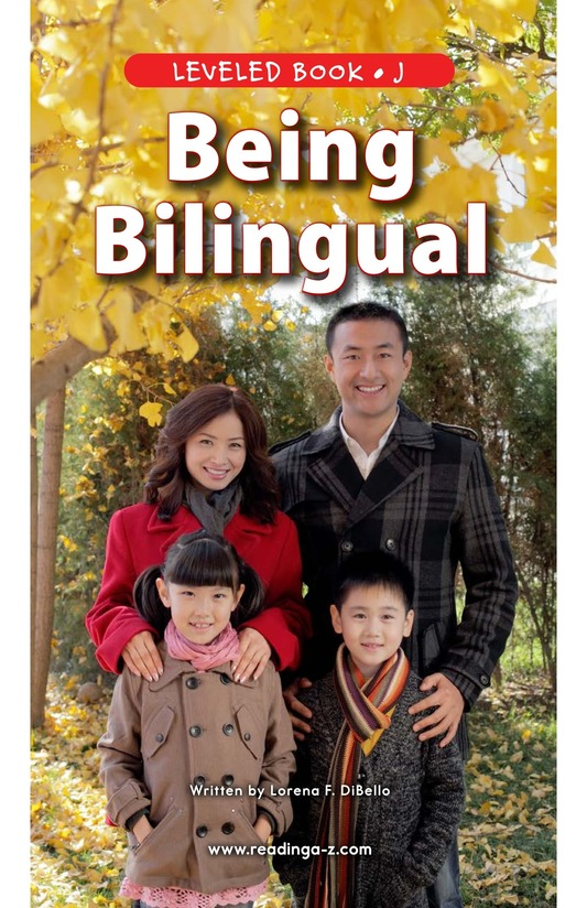 Book Preview For Being Bilingual Page 0