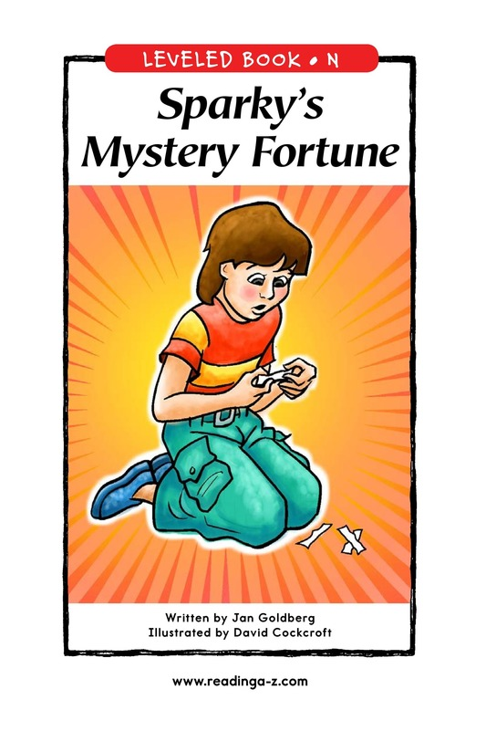 Book Preview For Sparky's Mystery Fortune Page 1