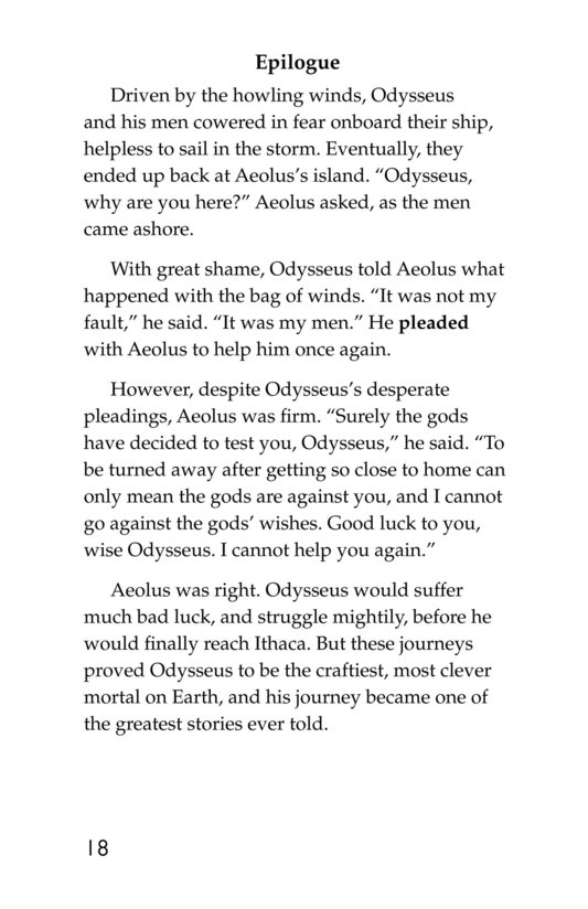 Book Preview For Odysseus and the Bag of Winds Page 18