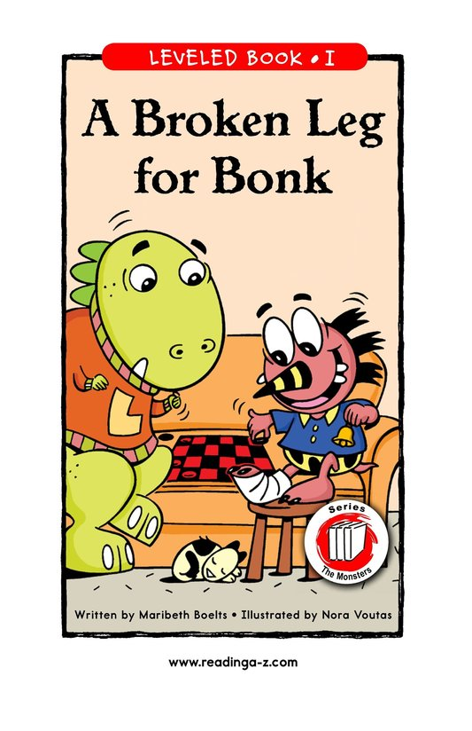 Book Preview For A Broken Leg for Bonk Page 1