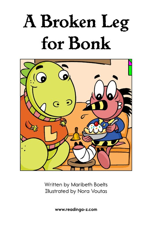 Book Preview For A Broken Leg for Bonk Page 2