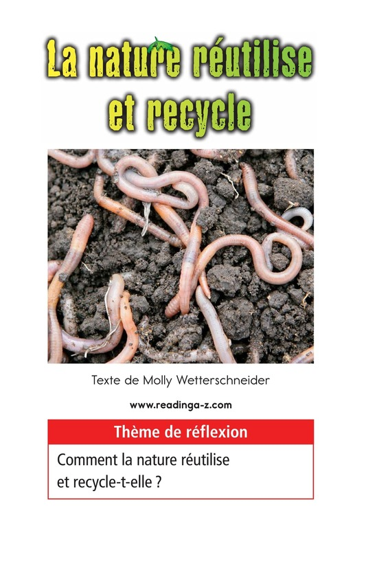Book Preview For Nature Reuses and Recycles Page 1