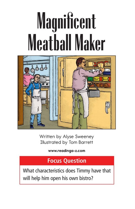 Book Preview For Magnificent Meatball Maker Page 1