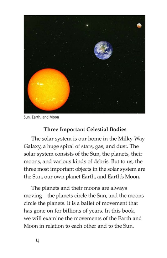 Book Preview For The Sun, Earth, and Moon Page 4