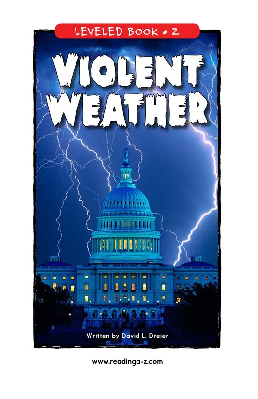 Book Preview For Violent Weather Page 0