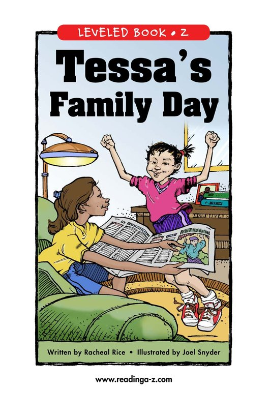 Book Preview For Tessa's Family Day Page 0