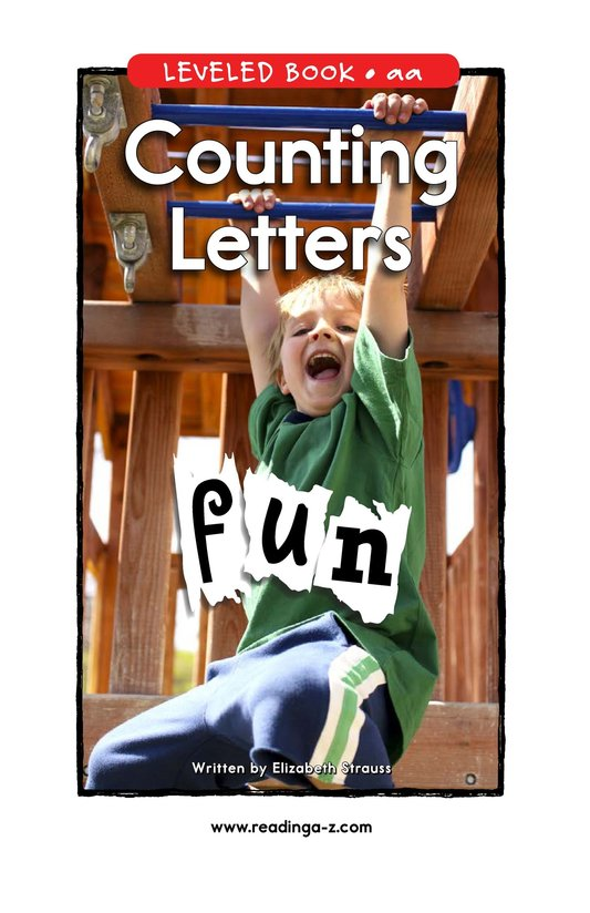 Book Preview For Counting Letters Page 1