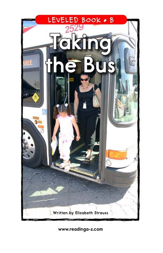 Book Preview For Taking the Bus Page 1