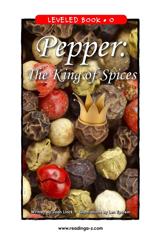 Book Preview For Pepper: The King of Spices Page 1