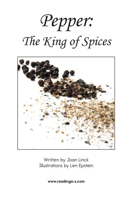 Book Preview For Pepper: The King of Spices Page 2