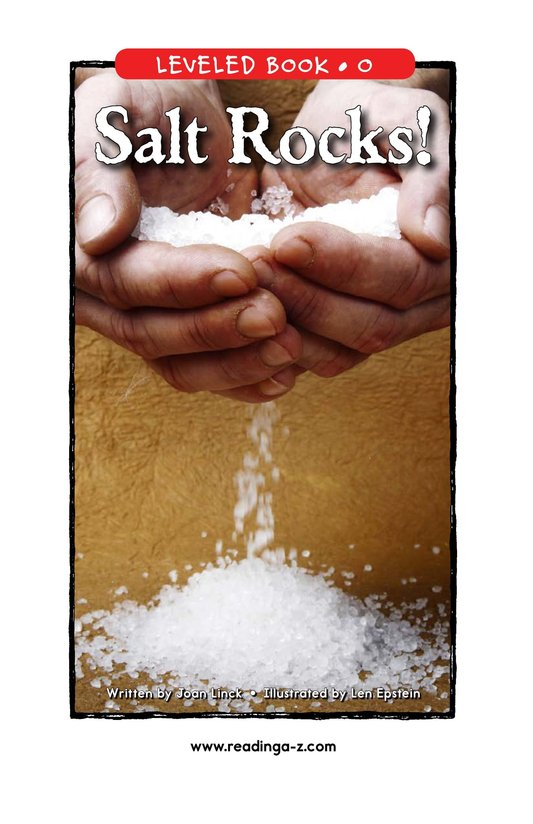 Book Preview For Salt Rocks! Page 1