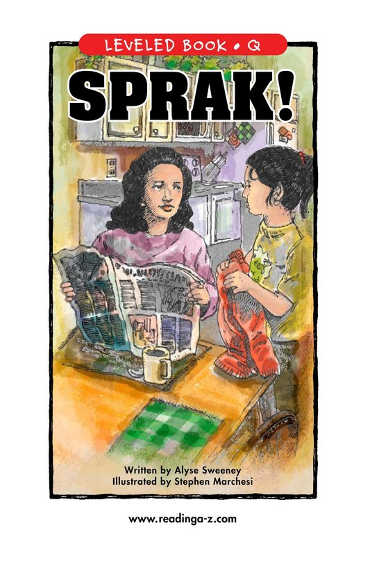 Book Preview For SPRAK! Page 1