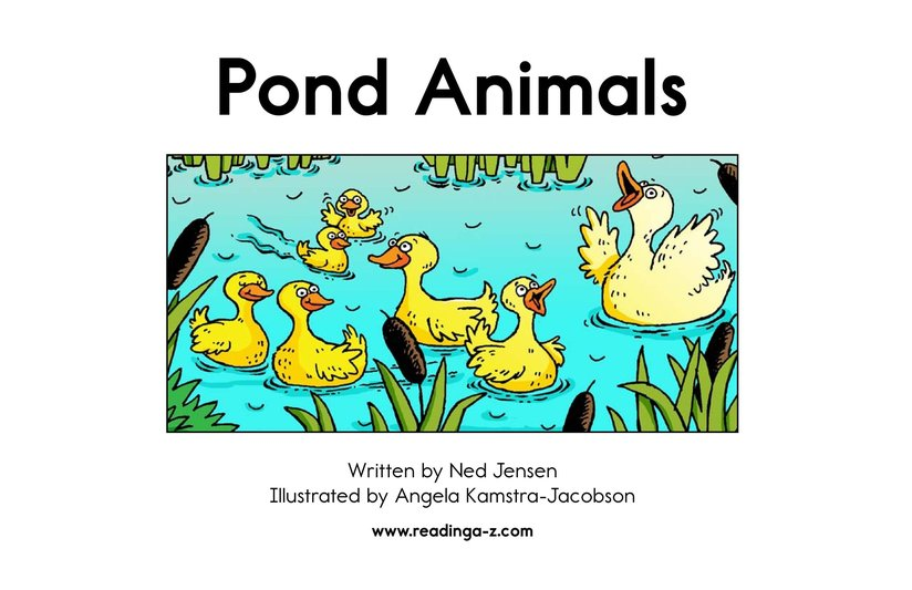 Book Preview For Pond Animals Page 2