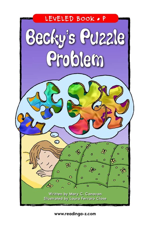 Book Preview For Becky's Puzzle Problem Page 1