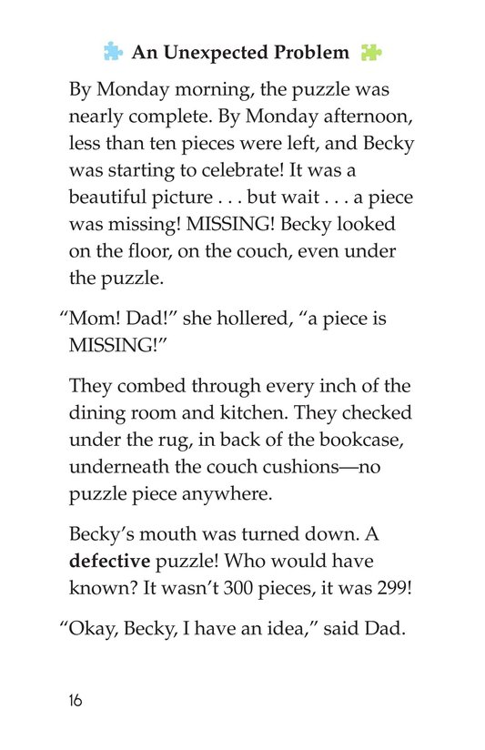 Book Preview For Becky's Puzzle Problem Page 16