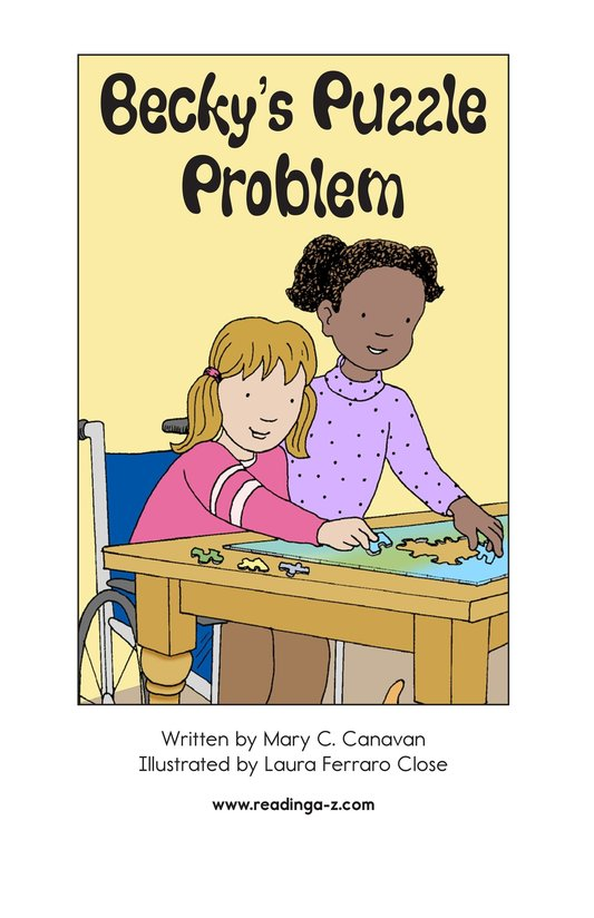 Book Preview For Becky's Puzzle Problem Page 2