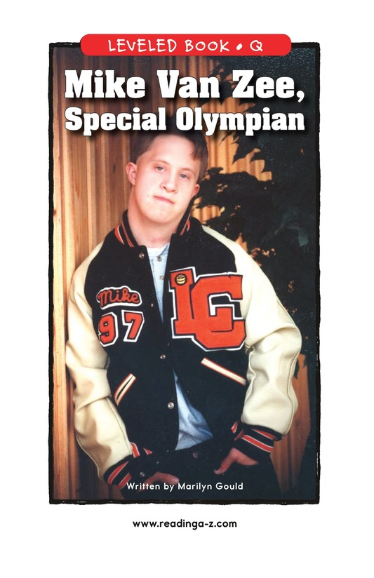 Book Preview For Mike Van Zee, Special Olympian Page 1