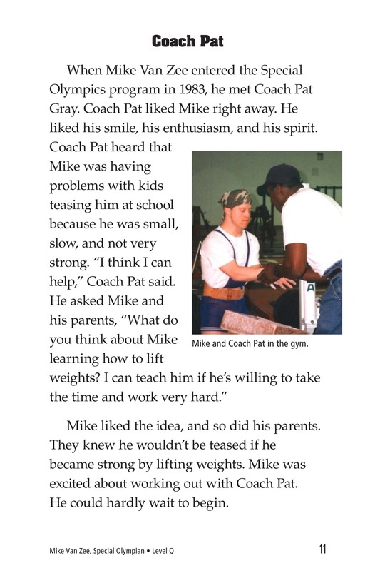 Book Preview For Mike Van Zee, Special Olympian Page 11