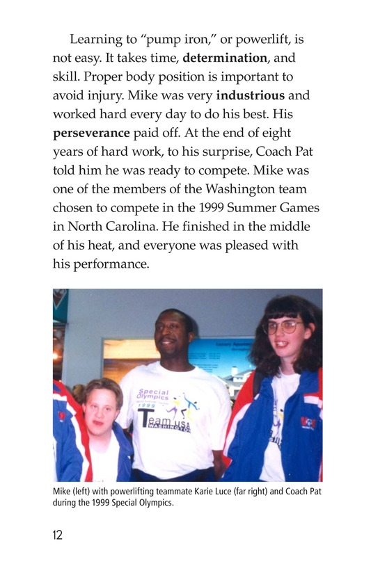 Book Preview For Mike Van Zee, Special Olympian Page 12