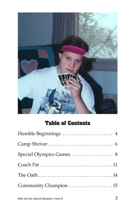Book Preview For Mike Van Zee, Special Olympian Page 3