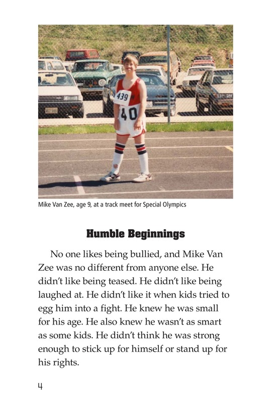 Book Preview For Mike Van Zee, Special Olympian Page 4