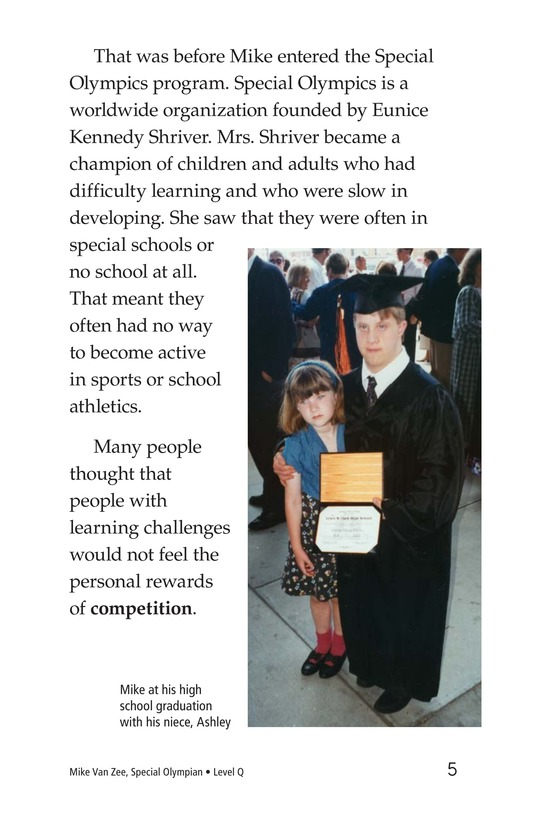 Book Preview For Mike Van Zee, Special Olympian Page 5