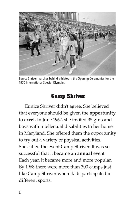 Book Preview For Mike Van Zee, Special Olympian Page 6