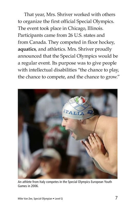 Book Preview For Mike Van Zee, Special Olympian Page 7