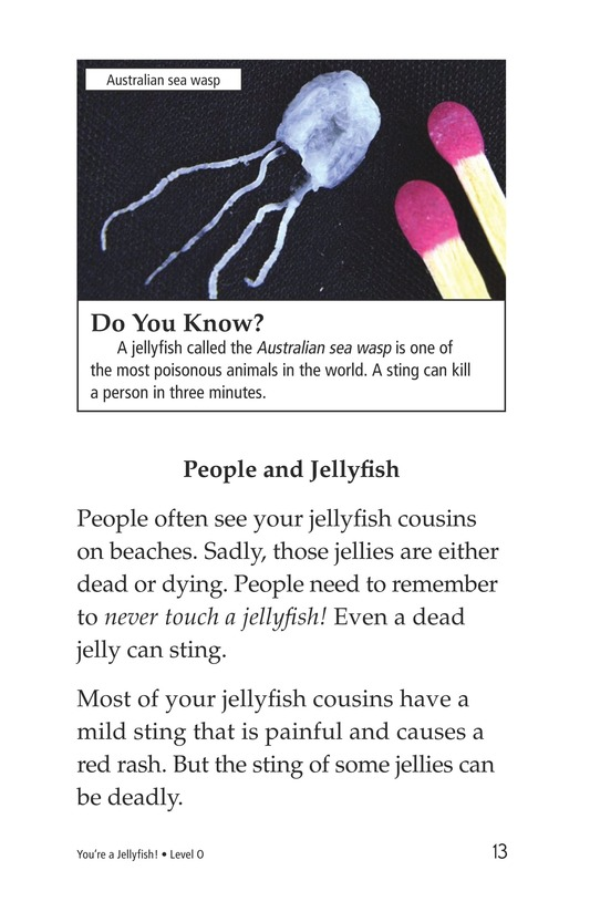 Book Preview For You're a Jellyfish! Page 13