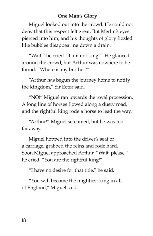 Book Preview For Miguel and King Arthur Page 18