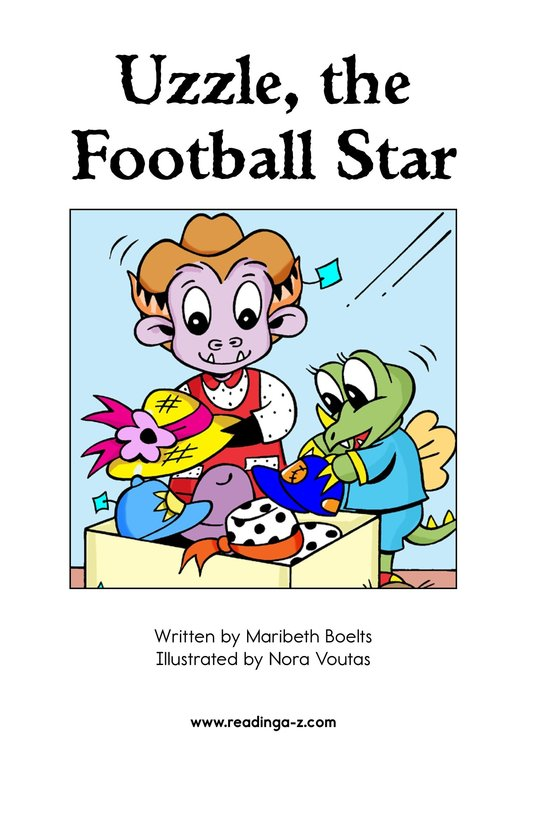 Book Preview For Uzzle, The Football Star Page 2