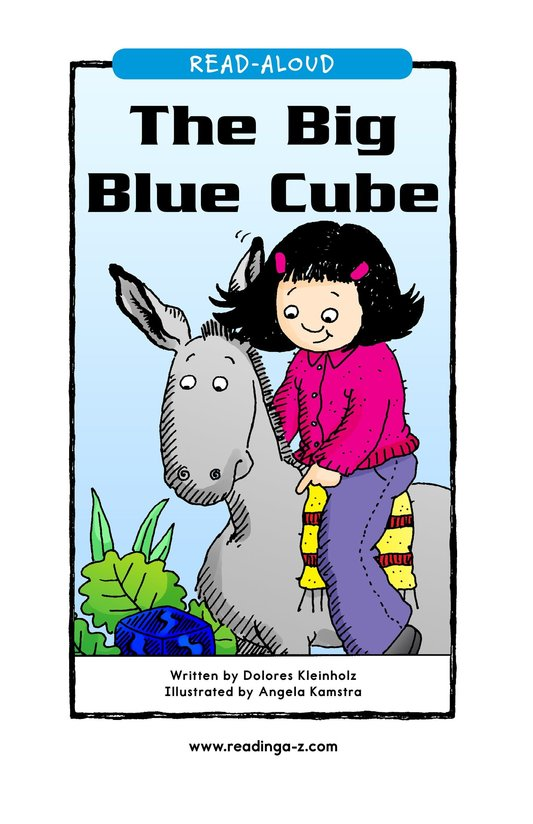 Book Preview For The Big Blue Cube Page 1
