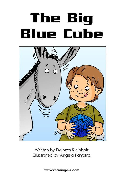 Book Preview For The Big Blue Cube Page 2