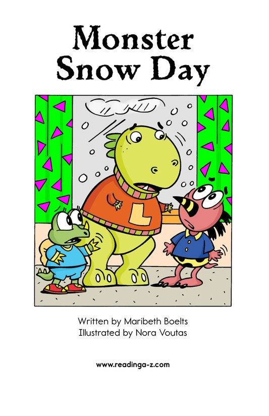 Book Preview For Monster Snow Day Page 2