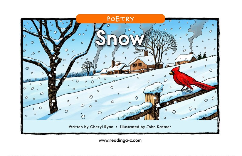 Book Preview For Snow Page 1